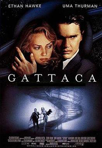 gattaca movie poster thumbnail from wikipedia for commentary